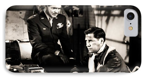 IPhone Case featuring the photograph Clark Gable Hollywood Heart Throb In The Movie Command Decision by R Muirhead Art
