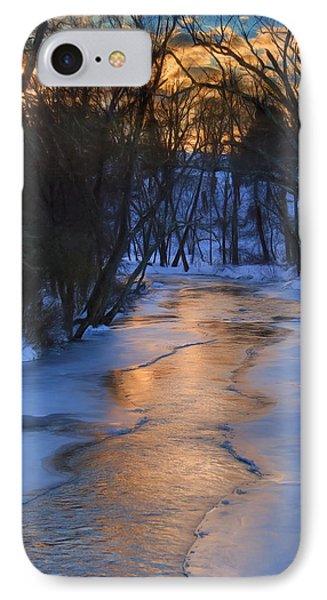 Clarks Creek Sunset IPhone Case by Lori Deiter