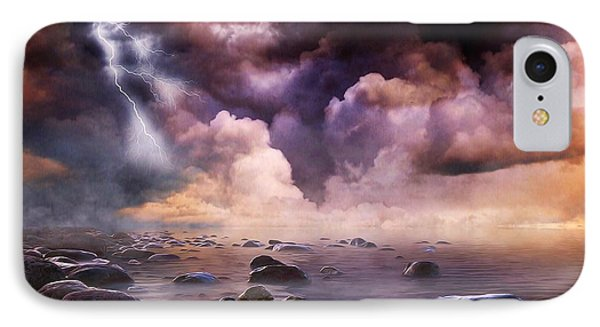 IPhone Case featuring the mixed media Clash Of The Clouds by Gabriella Weninger - David