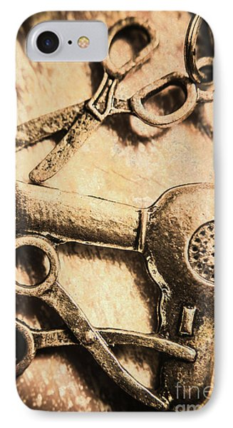 Classic Beauty Salon Icons IPhone Case by Jorgo Photography - Wall Art Gallery