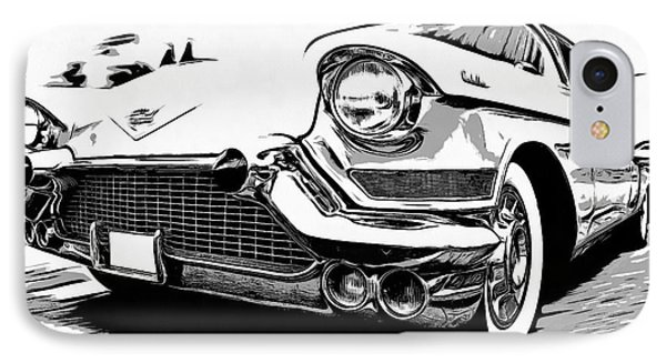 Classic Cadillac IPhone Case by Edward Fielding