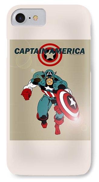 Classic Captain America Phone Case by Mista Perez Cartoon Art