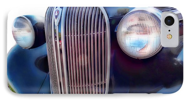 IPhone Case featuring the photograph Classic Car Grill 1938 Plymouth by Ann Powell