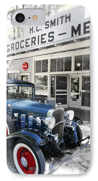 Classic Chevrolet Automobile Parked Outside The Store Phone Case by Mal Bray