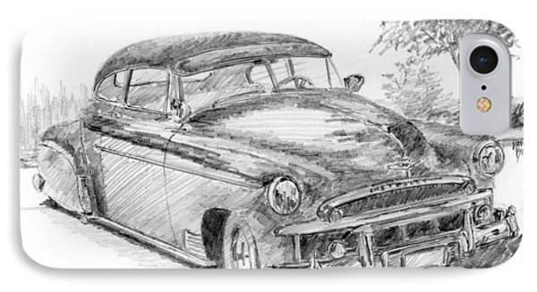 Classic Chevy Coupe Sketch IPhone Case by David King