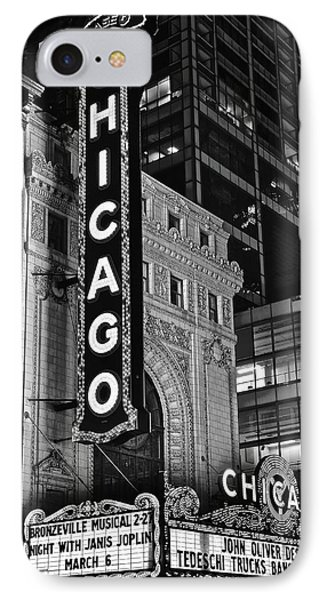 Classic Chicago Theater In Black And White IPhone Case