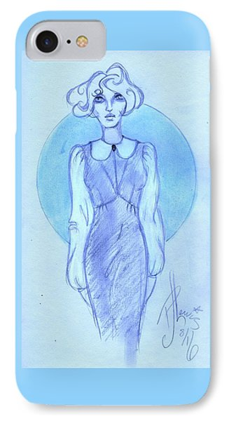 IPhone Case featuring the drawing Classic Fitted Jumper by P J Lewis