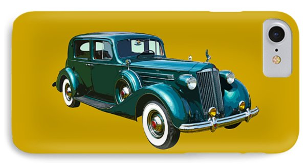 Classic Green Packard Luxury Automobile IPhone Case by Keith Webber Jr