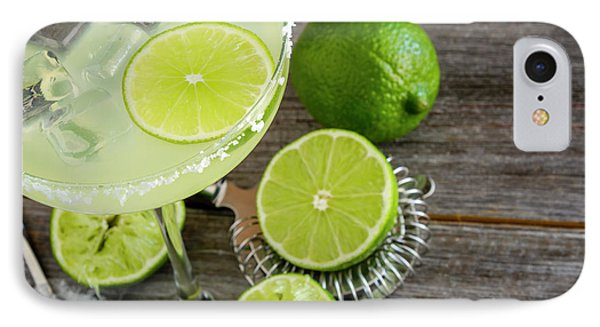 IPhone Case featuring the photograph Classic Lime Margarita by Teri Virbickis