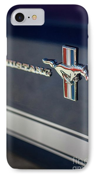 Classic Mustang Logo Closeup IPhone Case by Mike Reid
