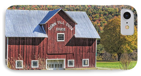 Classic New England Barn In Autumn IPhone Case by Edward Fielding