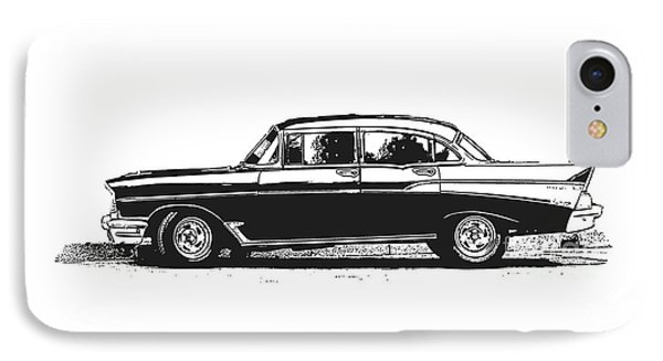 Classic Old Car IPhone Case by Edward Fielding