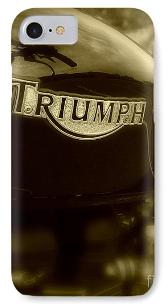 Classic Old Triumph IPhone Case by Perry Webster