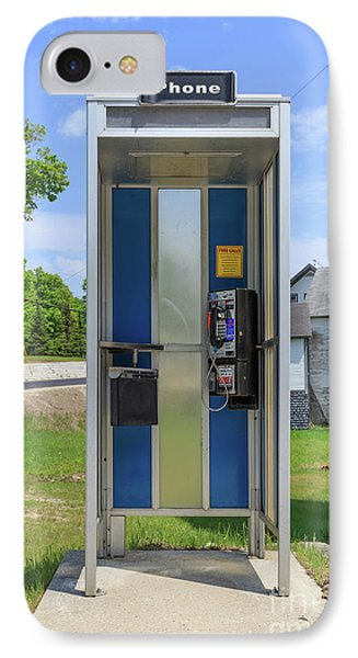 Classic Pay Phone Booth IPhone Case by Edward Fielding