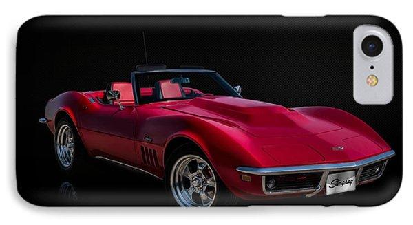 Classic Red Corvette IPhone Case by Douglas Pittman