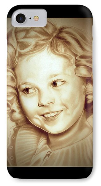 Shirley Temple iPhone 7 Case - Classic Shirley Temple by Fred Larucci