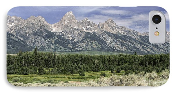 Classic View Of The  Grandtetons IPhone Case by Sandra Bronstein