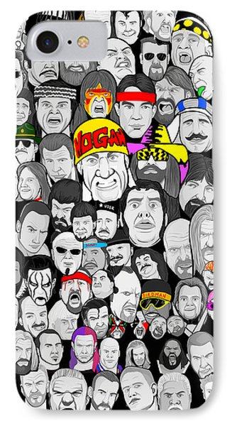 Classic Wrestling Superstars Phone Case by Gary Niles