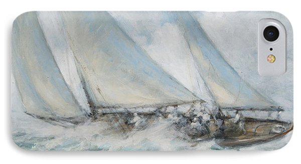 Classic Yacht  Twixt Wind And Water IPhone Case