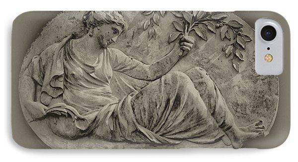 Classical Greek Woman Fresco Phone Case by Bill Cannon