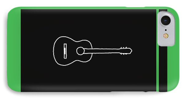 Classical Guitar In Green IPhone Case