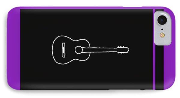 Classical Guitar In Purple IPhone Case