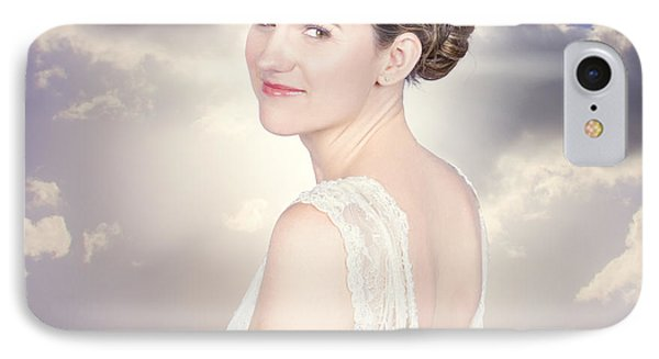 Classy Bride Enjoying Outdoor Wedding IPhone Case by Jorgo Photography - Wall Art Gallery