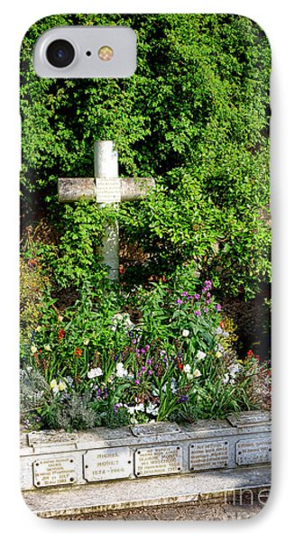 Claude Monet Grave In Giverny IPhone Case by Olivier Le Queinec