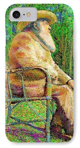 Claude Monet In His Garden IPhone Case by Hidden Mountain