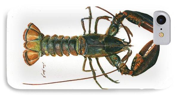 Clawed Lobster Art IPhone Case by Juan Bosco