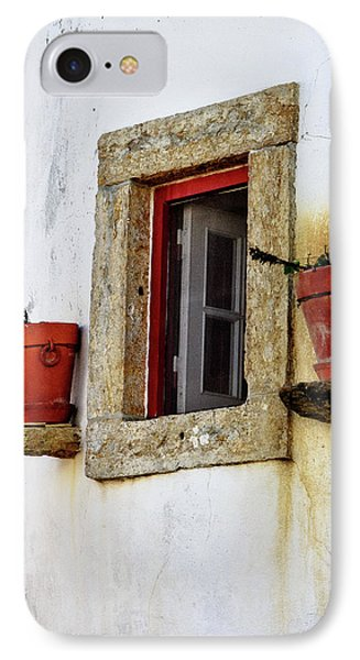 IPhone Case featuring the photograph Clay Pots In A Portuguese Village by Marion McCristall