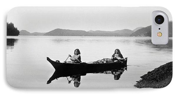 Clayoquot Canoe, C1910 Phone Case by Granger