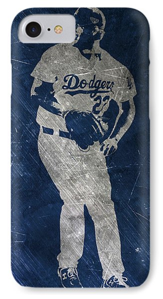 Clayton Kershaw Los Angeles Dodgers Art IPhone Case by Joe Hamilton