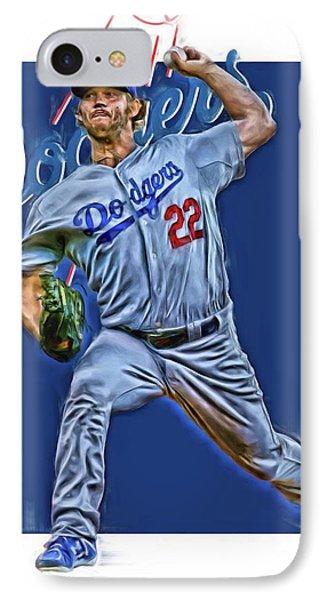 Clayton Kershaw Los Angeles Dodgers Oil Art IPhone Case by Joe Hamilton