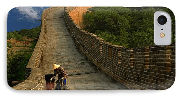 Cleaning The Great Wall IPhone Case by Harry Spitz