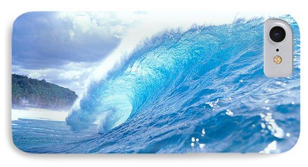 Clear Blue Wave IPhone Case by Vince Cavataio - Printscapes