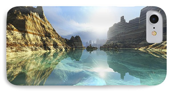 Clear Canyon River Waters Reflect Phone Case by Corey Ford