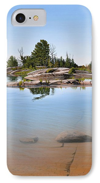 IPhone Case featuring the painting Clear Contentment by Kenneth M Kirsch