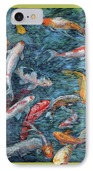 Clear Creek Koi With Painted On Mat IPhone Case by Charles Munn