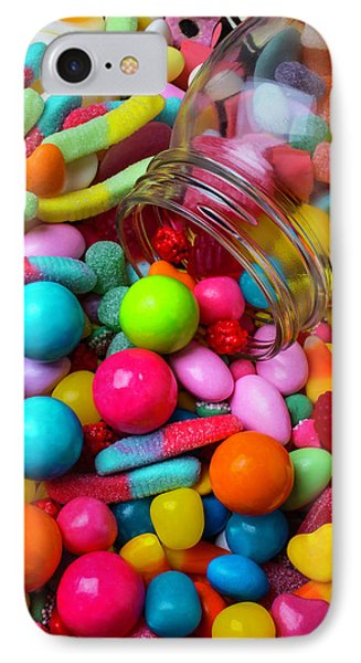 Clear Jar Spilling Candy IPhone Case by Garry Gay