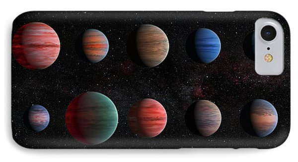 Clear To Cloudy Hot Jupiters IPhone Case by Mark Kiver