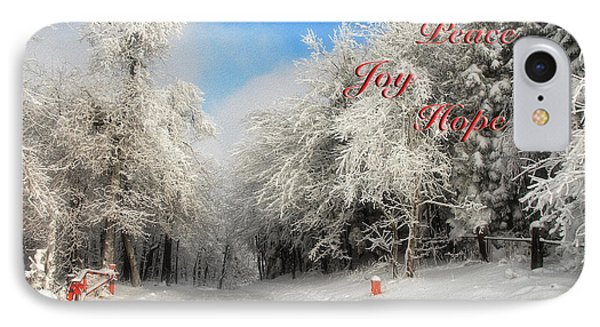 Clearing Skies Christmas Card Phone Case by Lois Bryan