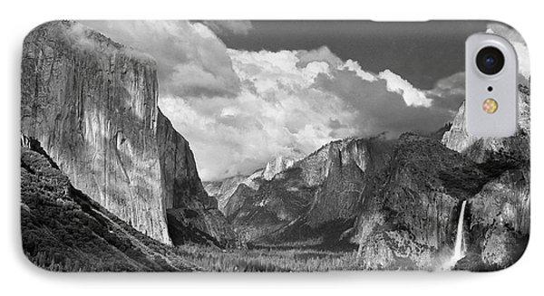 Clearing Skies Yosemite Valley IPhone Case