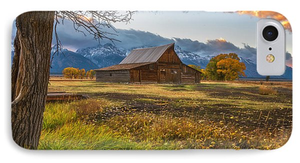 Clearing Storm Over Moulton Barn IPhone Case by Darren White