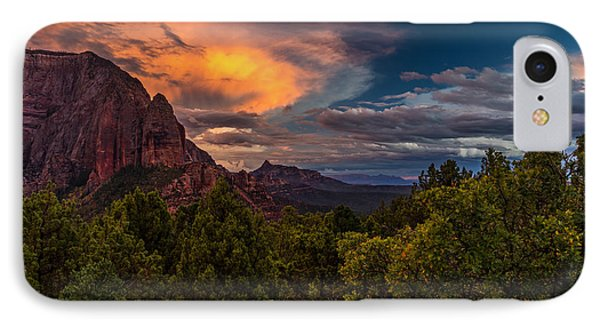 Clearing Storm Over Zion National Park IPhone Case
