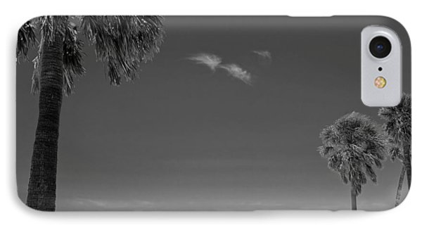 Clearwater Beach Bw Phone Case by Adam Romanowicz