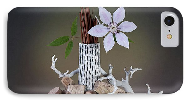 Clematis Blossom IPhone Case by Tom Mc Nemar