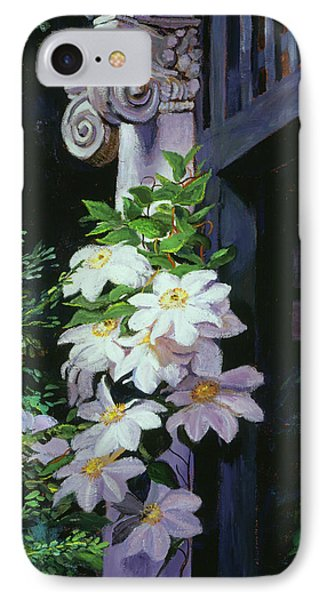 Clematis Blossoms IPhone Case by David Lloyd Glover