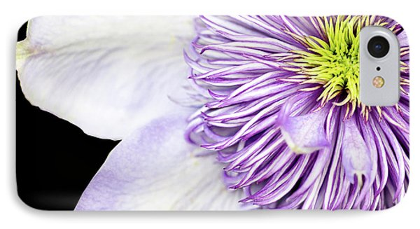 IPhone Case featuring the photograph Clematis Center by Rebecca Cozart