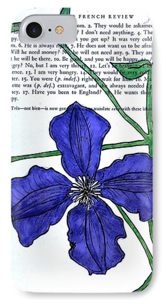 Clematis IPhone Case by Kelly Basinger